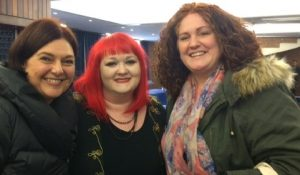 Georgia McCormick with Cambs parents at Pinpoint conference 2017