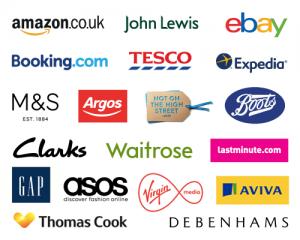 multiple e-tailer logos