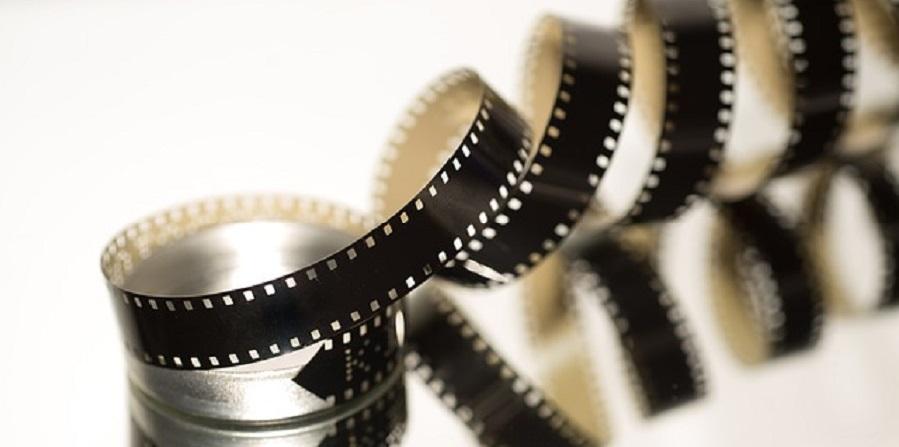 unfurled roll of film