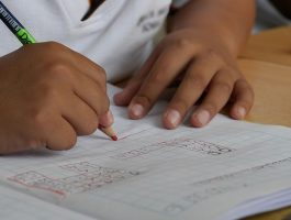 Child doing school work. Photo link to SEN Support webpage in Cambridgeshire