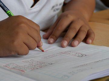 Child doing school work. Photo link to SEN Support webpage in Cambridgeshire