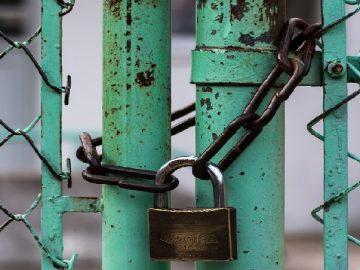 padlocked gates