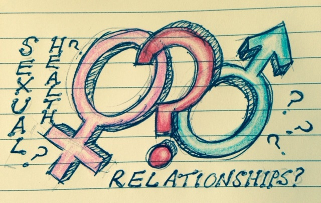 graffiti style male and female symbols
