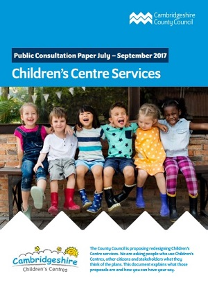 cover of consultation document