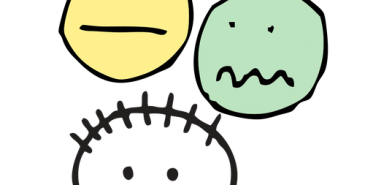 image of sad and happy faces