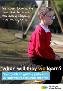 school exclusions guide by Ambitious About Autism