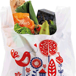 Tesco carrier bag of shopping